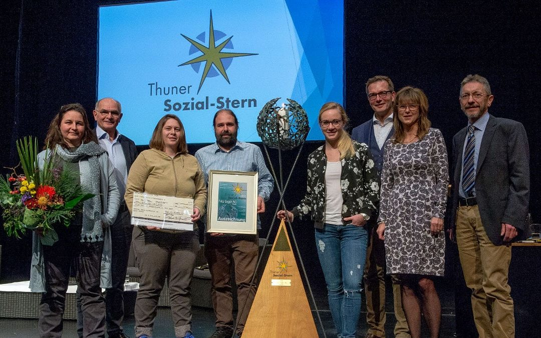 "Fritz Gyger AG winner of the ""Thun Social Star"" award 2018"
