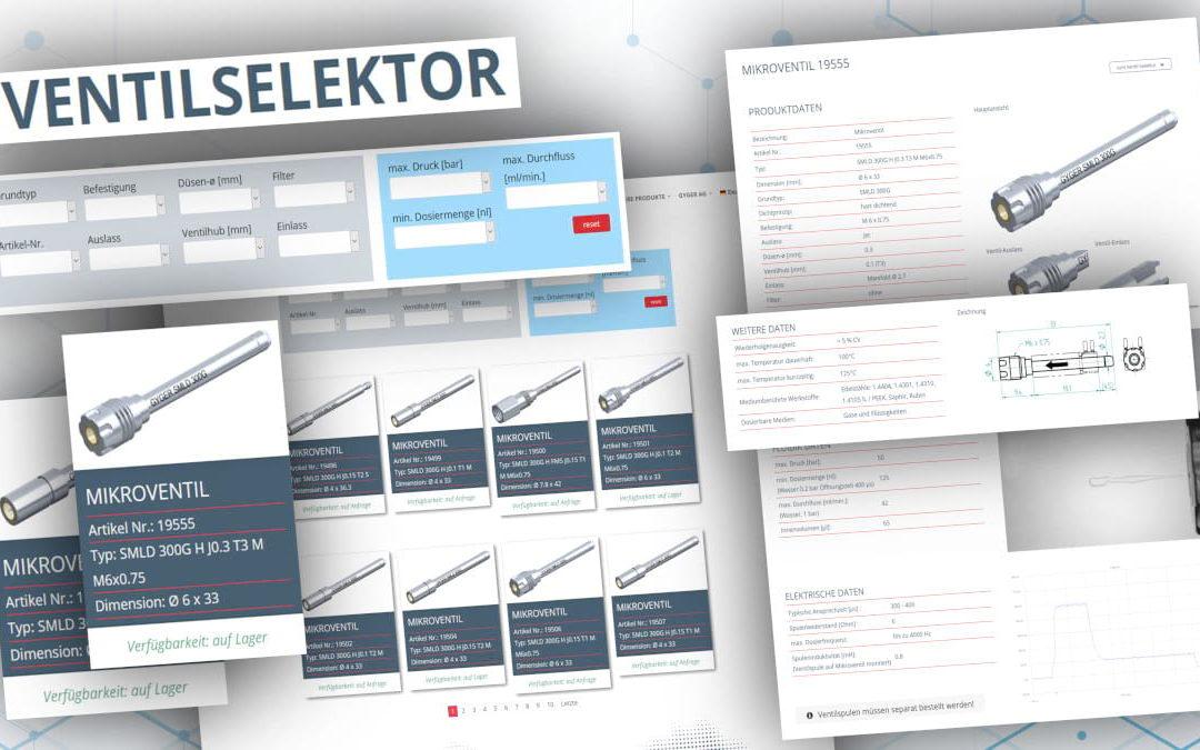 Micro Valves: Valve Selector